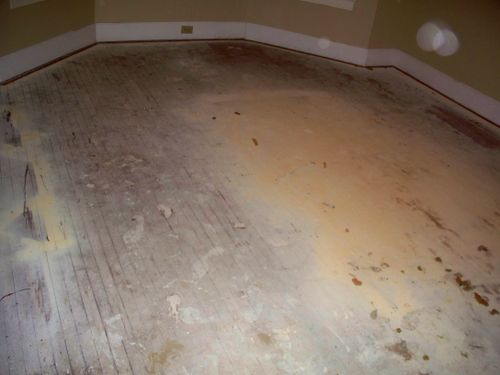 Who needs a drop cloth when you have hardwood floors?