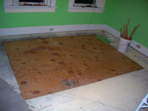 Why yes, that is an enormous section of hardwoods that were replaced with plywood. Thanks for noticing.